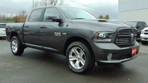 2017 Ram 1500 SPORT CREW 4X4 - LEATHER-ROOF-NAV - 900 KMS