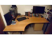 Ikea cherry wood veneer desk