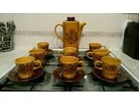 Retro vintage 1970s Royal Worcester Palissy Sierra Coffee set