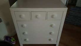 Chest of drawers heavy white