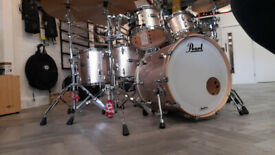 Pearl Masters Maple Complete 5-Piece Shell Pack in Bright Champagne Sparkle
