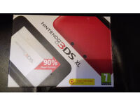 Nintendo 3DS XL System Console Red & Black Full working order boxed w/ charger