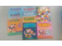 Elmer Books x 9 and Bag