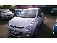 2010 HYUNDAI 120 CLASSIC 1.2 HATCH 5 DOOR SILVER NEW MOT 84k WITH F/S /HISTORY CD R/C/LOCKING E/W +