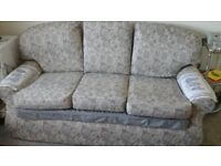 Lovely 3 seater sofa, good condition, very comfy, grey material