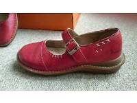 Dr Martens Red Mary Jane shoes. Size 6
