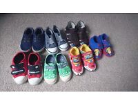 Bundle of toddler boys shoes