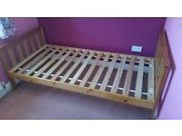 Single Wooden Slat Bed and Underbed Storage