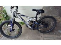 Kids full suspension bike