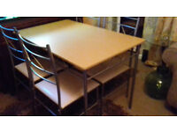 Dining table and 4 chairs - (In Willingham)