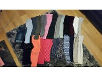 Bundle of 23 pairs girls (2-3 yrs) leggings/jeans - new or nearly new