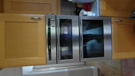 Neff double electric fan integrated silver oven