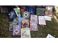 Selection of mixed books.