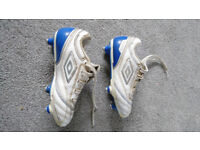 Football boots, childs size 10 . Umbro with original box, packaging etc. CAN POST if needed