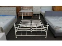 Ex Display Julian Bowen Sophie Crystal Double Bed Frame **CAN DELIVER**