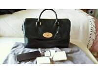 GENUINE MULBERRY DEL REY BAG IN BLACK SPONGY LEATHER with receipt