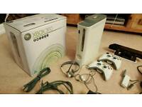 Xbox 360 60GB with 2 controllers, kinnect & 18 games