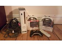 Xbox 360 with 3 Controllers 20 Games and a Remote