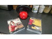 Kettlebell 10lb & 10x DVDs - BRAND NEW