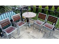 Set of 4 chairs and round table