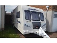 Bailey Pegasus 546 Tourer 2010. 6 Berth . 3 fixed bunks , Single Bed , Kingsized Bed