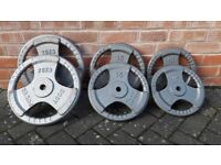 CAST IRON WEIGHT PLATES - 10KG - 15KG - 20KG - 1 Inch holes
