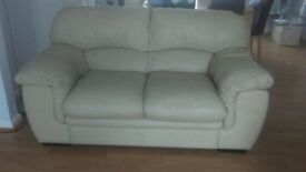 Excellent condition cream leather sofa