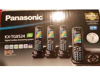 Cordless Phones With Answer machine, Panasonic KX-TG8524 QUAD