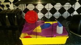 Hamster cage with some accessories. £10