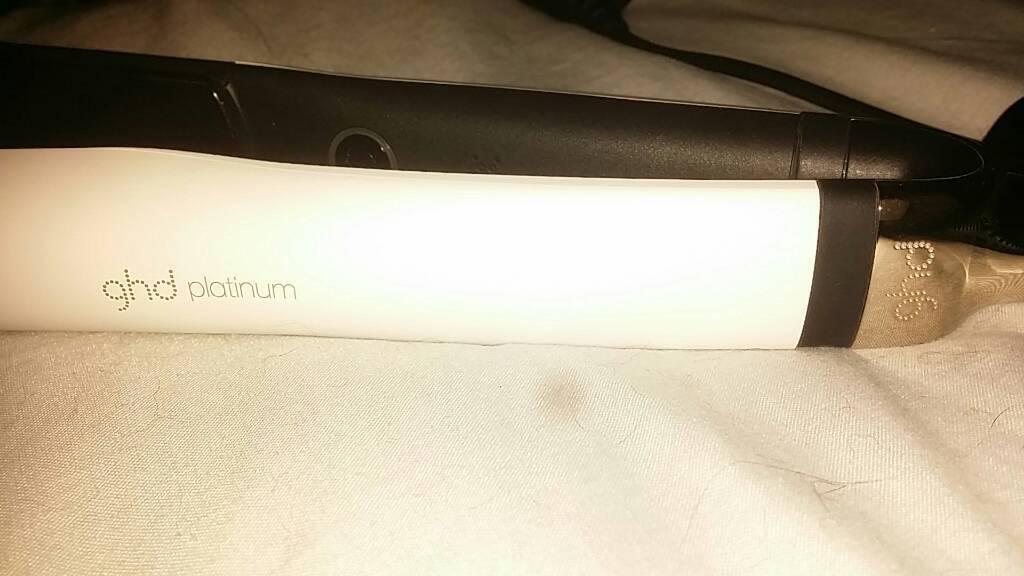 GHD Platinum white straighteners