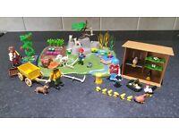 Playmobil Farm Superset, Chicken Coop, and Rose Gardener