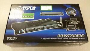 Pyle VHF Wireless 4-Mic System