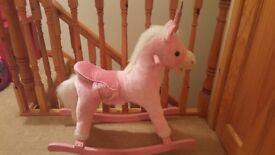 Little pink rocking unicorn