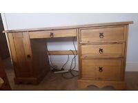 LARGE MEXICAN SOLID PINE CORONA DRESSING TABLE DESK £75