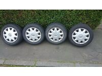 Vauxhall 4steel wheels,tyres & wheel trims