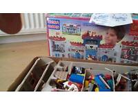 lego castle with drawbridge 700 pieces figures etc