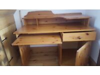 Pine desk - good condition