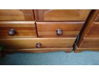 Cossatto Solid wood nursery furniture cot bed changing station/drawers wardrobe £200 Ono