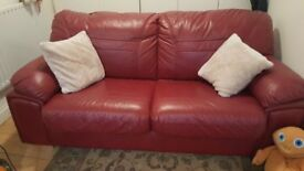 Excellent condition real leather sofabed