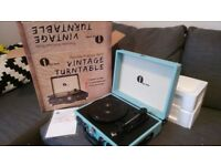 Retro Briefcase Vinyl Record Player (portable suitcase). Brand new / never used.