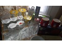 Glassware, Cups, Mugs, Plates, Mixers, etc -- best offers accepted