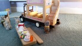Sylvanian Families Village Bus with Ice Cream Stand