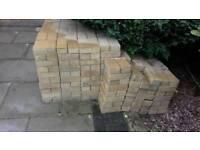 Yellow block pavers