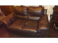 Quality brown genuine leather sofa