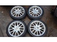 "GENUINE VW MK5 GOLF GT TDi 17"" SPORT CLASSIX ALLOYS & 225/45/17 TYRES 1K0601025AN 5X112 CADDY TOURAN"