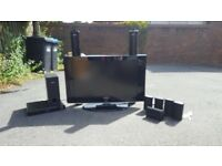 32 inch surround sound and tv with remote