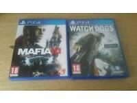 PS4 GAMES, WATCHDOGS & MAFIA 3 £15