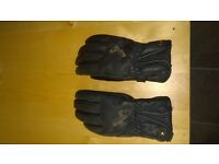 Womens black leather motorbike gloves for sale, size M