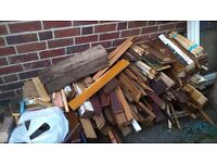 large pile of scrap/ fire wood Derby free to collect