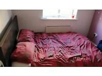 Black IKEA double bedframe